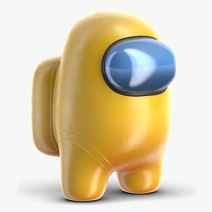 3D model yellow guy character