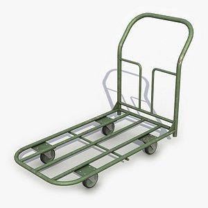 Hand Cart 2 3D Model 3D