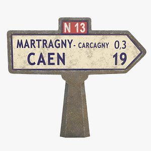 3D sign french road