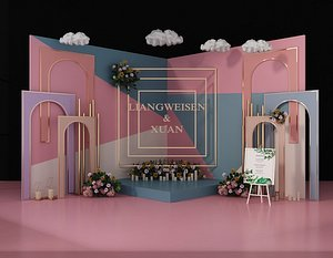 wedding balloon lobby model