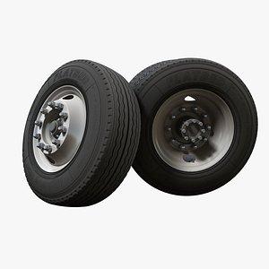 truck steel wheel rim 3D