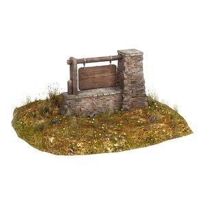 national park sign 3D