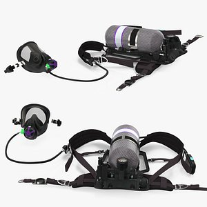 respiratory equipment set respirator 3D model