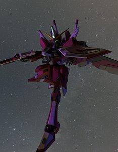 3D infinite justice gundam