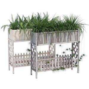 3D model Raised planter box 2