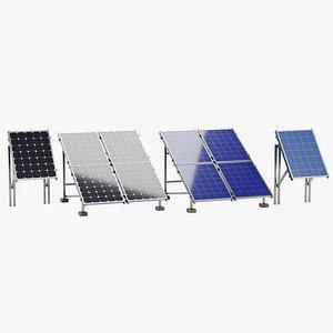 3D Solar Panels Set model