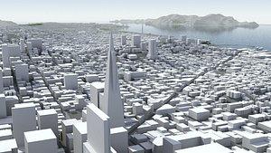 3D model San Francisco Bay