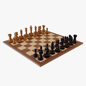 3D chess wood model