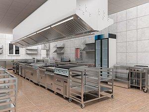 3D Commercial Kitchen 6 model