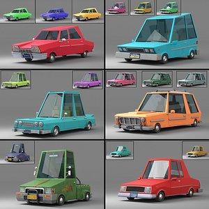 Cartoon Car Collection V2 3D model