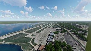 3D burke lakefront airport aircraft model