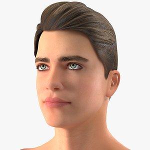 3D model Teenage Boy Head