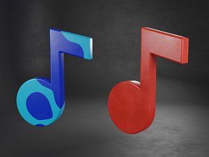 3D model Note Music Icon