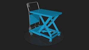 Three lifting trolleys 3D model