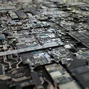 microchip chip 3D model