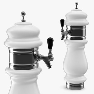 3D ceramic faucet draft beer model