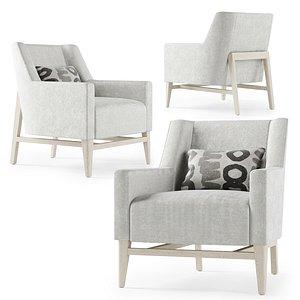 lounge trestle chair 3D model