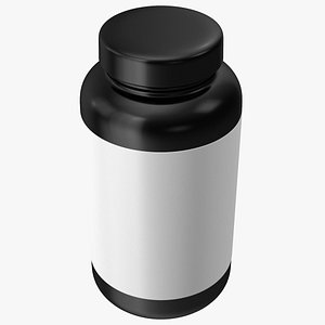 3D Omega3 Plastic Jar Blank