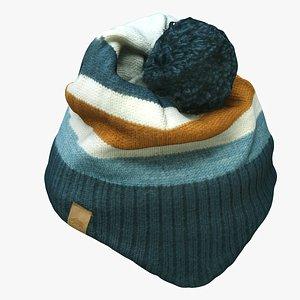 3D model knit cap