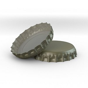 tin bottle cap 3D