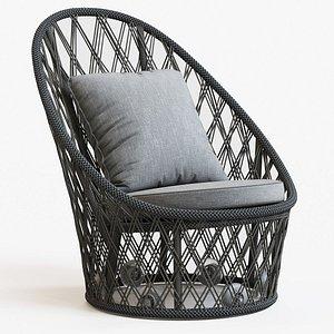 3D chair relaxing swivel model