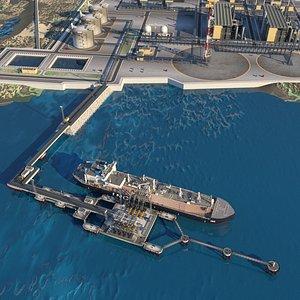 3D model Sea port