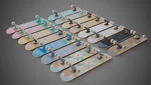 3D realistic skateboards model