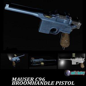 MAUSER C96 Blender 3D model