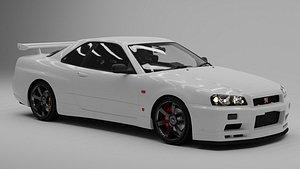 3D model NISSAN skyline GT-R R34