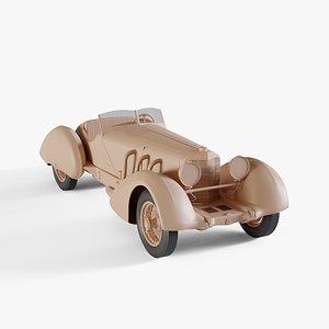 3D 1930 Mercedes-Benz SSK Trossi Roadster
