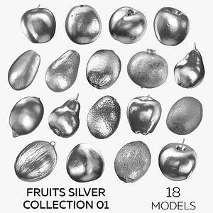 3D Fruits Silver Collection 01 - 18 models