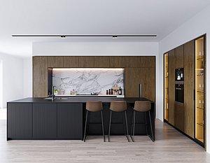 kitchen wine interior 3D
