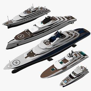 3D yacht pbr vessel model