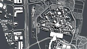 Cityscape Dubai EXPO 2020 United Arab Emirates 3D model