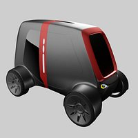 Compact electric concept styled car 14