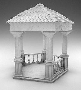 greek gazebo 3D model