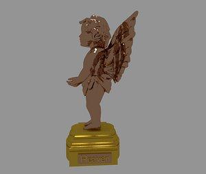 statue glass angel 3D