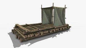 3D model PBRWooden Raft 2