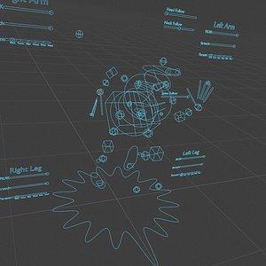 humanoid blender rig model