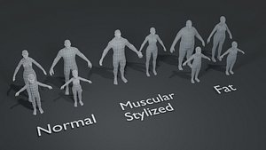 3D model human base mesh