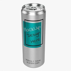 3D Sleek beverage can 355 ml 12 oz