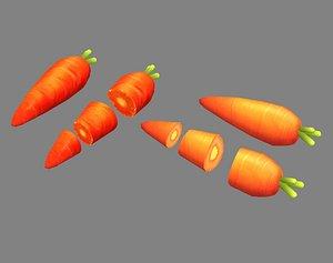 3D carrot vegetable