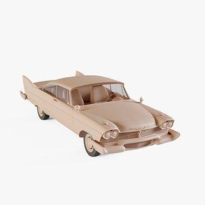 1958 Plymouth Fury Sport 3D model