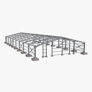 steel structure building model