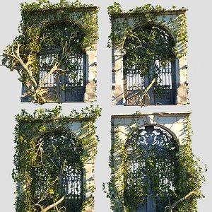3D model Overgrown Gate  Ivy Pack 4