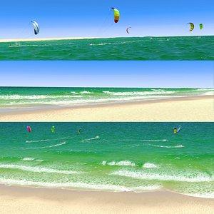 KiteSurf Beach 3D model