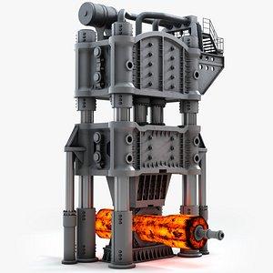 Steam-Hydraulic Forging Press 3D model