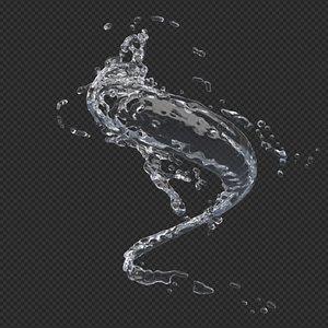 water splash 3D model