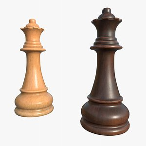 Chess Pieces Queen1 With PBR 4K 8K 3D