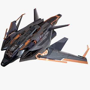 Sci-Fi Spaceship Light Fighter PBR 3D